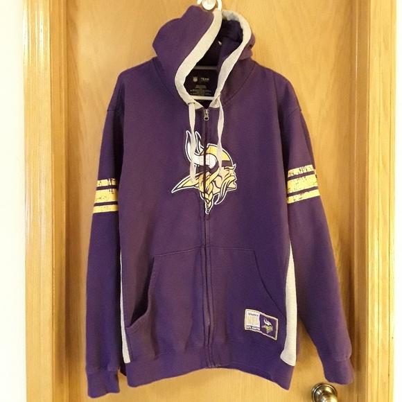 half off fe820 739be Vintage Look MN Vikings Womens Hoodie Size XL